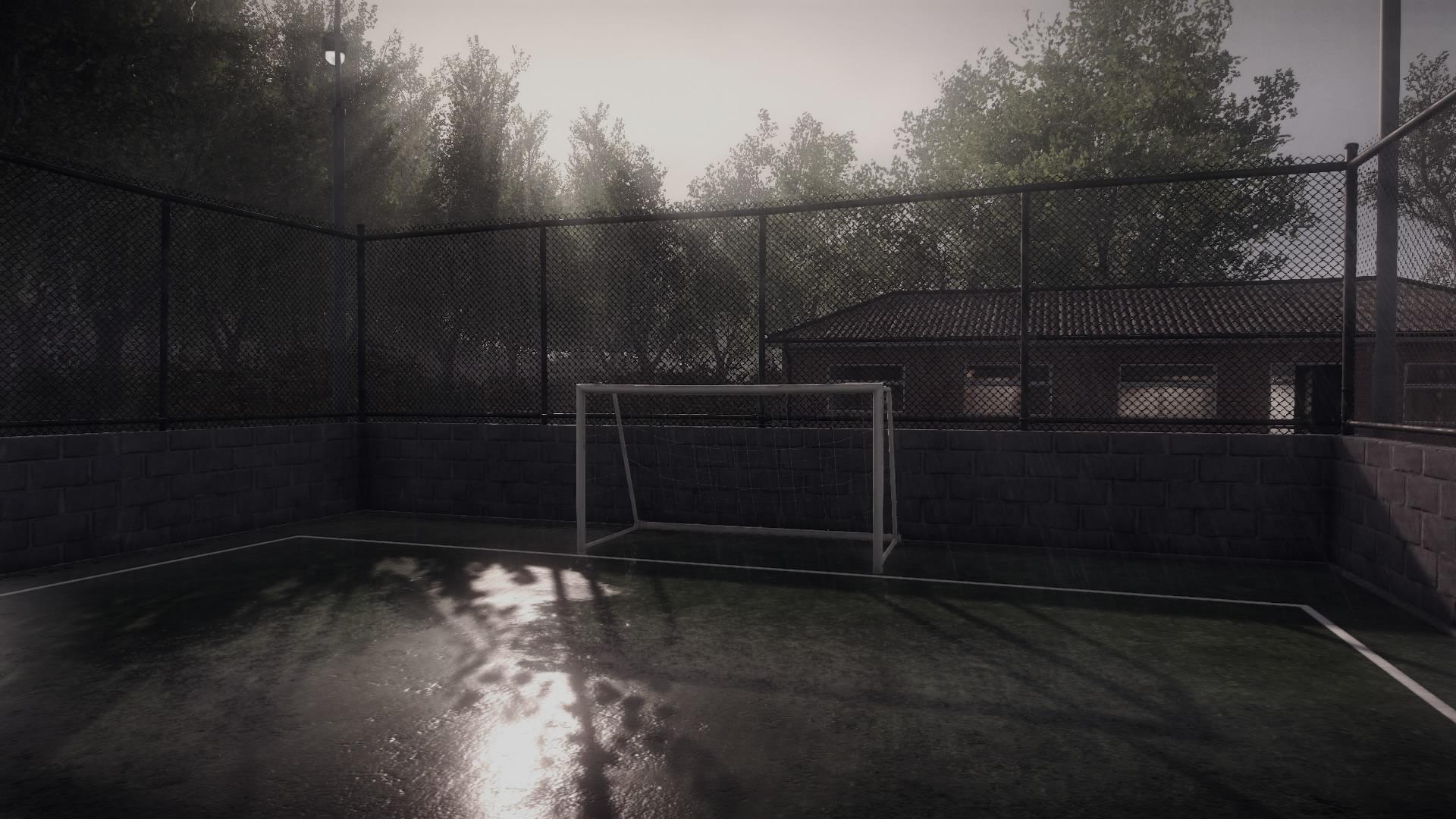 Spielausfall wegen Regens.