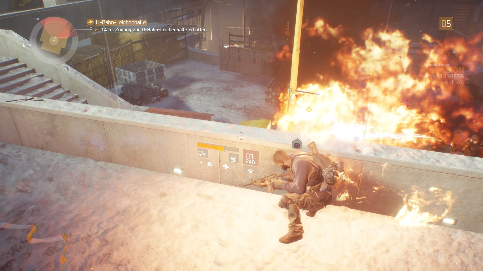 Flammenwerfer gibt's auch. Vielleicht wäre es gegen Zombies cooler.
