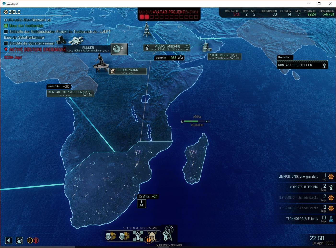 Über die Weltkarte werden unsere Einsätze geplant