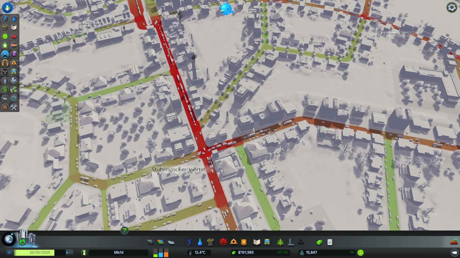 """""""Stressig"""" wird es am ehesten beim Management des Straßenbaus. Hier gibt es im Vergleich wirklich diverse Möglichkeiten seine Straßenzüge anzulegen und den resultierenden Verkehr zu kontrollieren."""